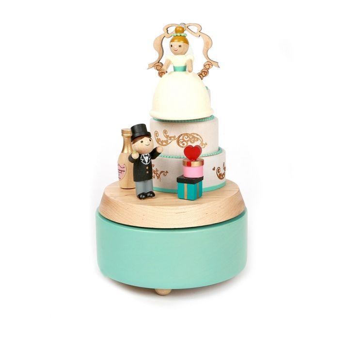 Jean Cultural知音文創 多旋轉音樂鈴-婚禮蛋糕