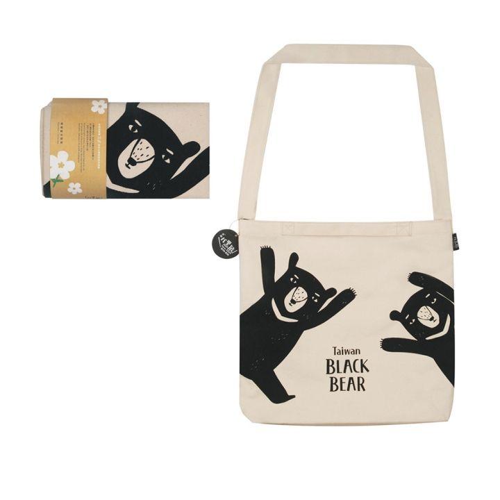 Jean Cultural知音文創 黑熊帆布提袋-黑熊