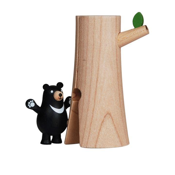 Jean Cultural知音文創 黑熊立式木夾-樹木