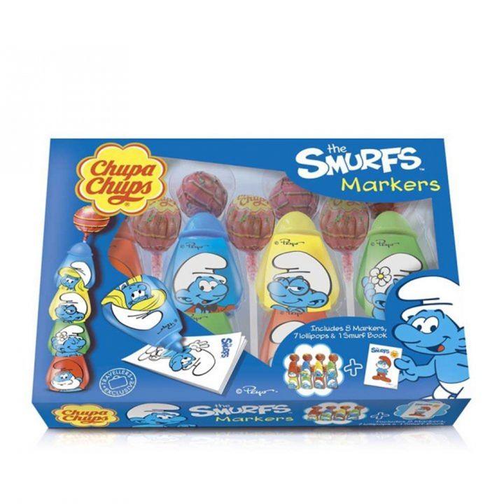 Chupa Chups加倍加 藍精靈棒棒糖畫筆