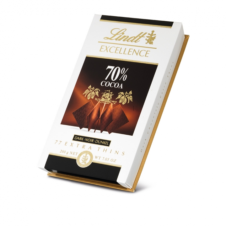 Thins Excelle 70% Cocoa70%黑巧克力薄片