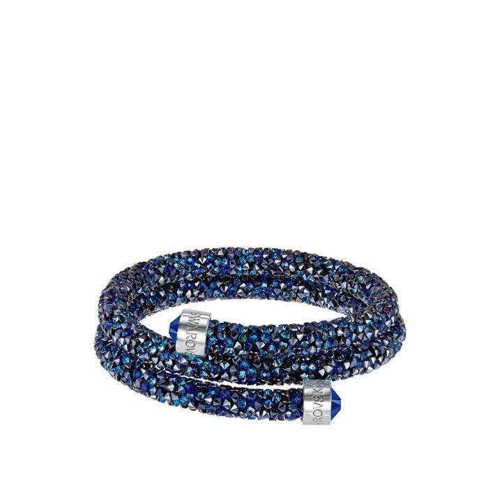 Swarovski施華洛世奇 Crystaldust 雙圈藍手鐲