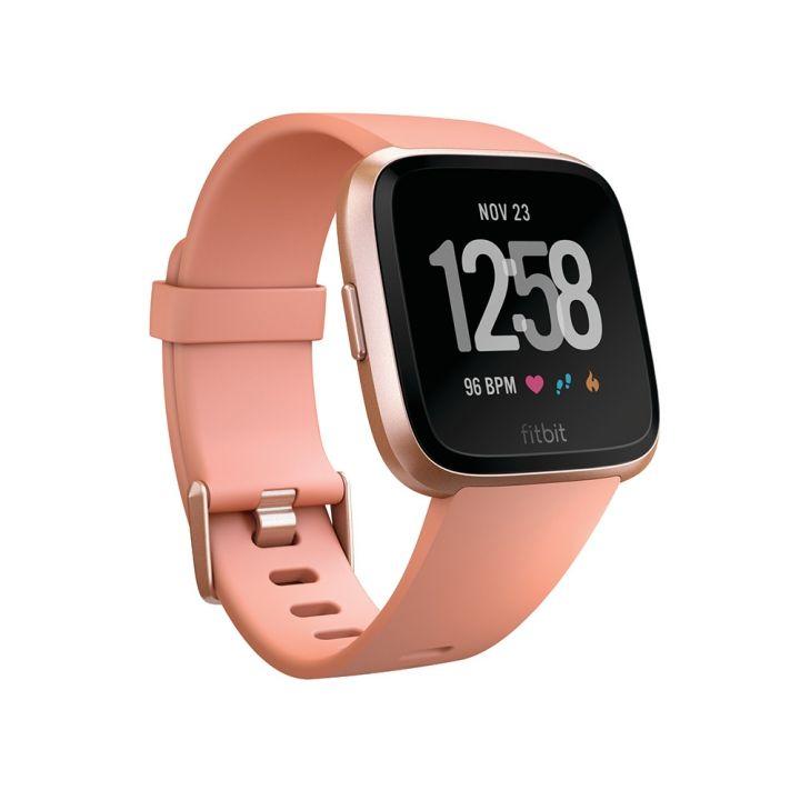 FitbitFitbit Fitbit Versa玫瑰金鋁製錶框-桃紅色錶帶