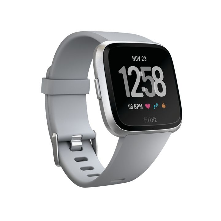 FitbitFitbit Fitbit Versa銀色鋁製錶框-灰色錶帶