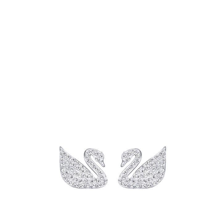 Swarovski施華洛世奇 Swan密鑲穿孔耳環