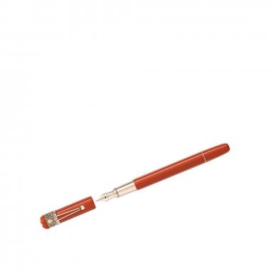 Montblanc萬寶龍(精品) 傳承系列紅與黑變形蜘蛛特別版珊瑚色鋼筆