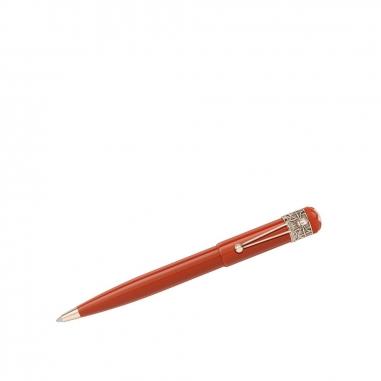 Montblanc萬寶龍(精品) 傳承系列紅與黑變形蜘蛛珊瑚色原子筆