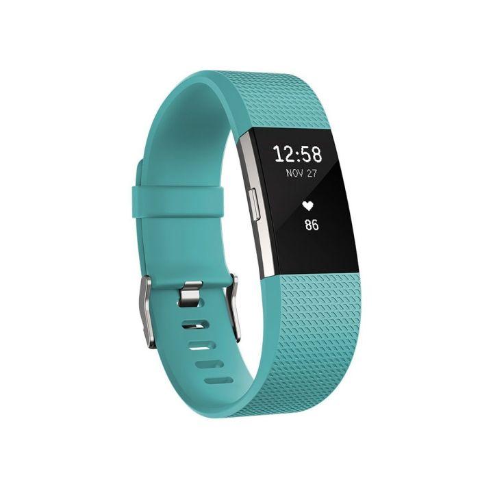 FitbitFitbit Charge 2無線心率監測專業運動手環-湖水綠 L