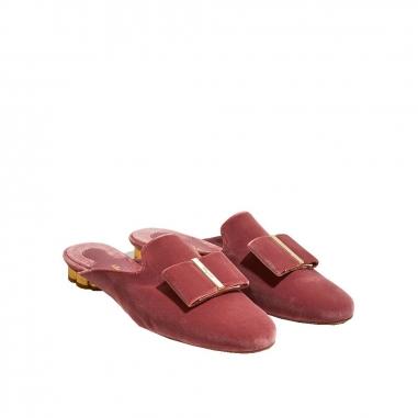 Salvatore Ferragamo費拉格慕 SCIACCA緞面穆勒鞋