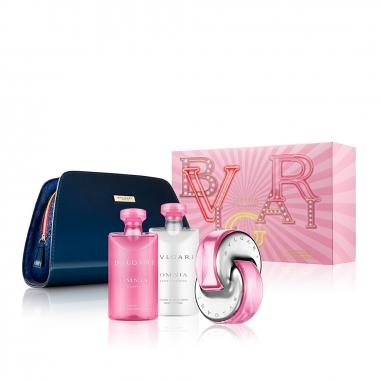 BVLGARI寶格麗(香水) 《聖誕限定》粉晶女士淡香水化妝袋特惠組