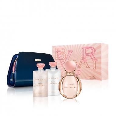 BVLGARI寶格麗(香水) 《聖誕限定》玫瑰金漾女士香水化妝袋特惠組