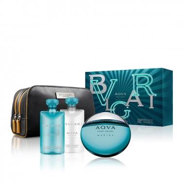 BVLGARI寶格麗(香水) 《聖誕限定》活力海洋能量男性淡香水收納袋特惠組