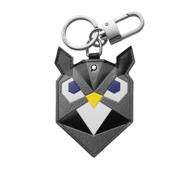 Montblanc萬寶龍(精品) 大師傑作(大班)粒面軟皮系列貓頭鷹鑰匙扣