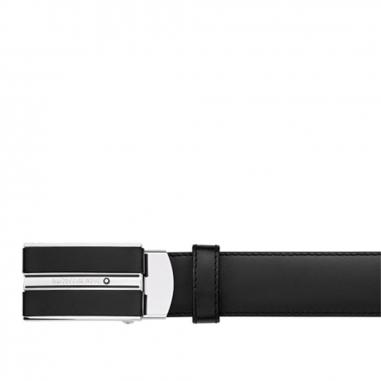 Montblanc萬寶龍(精品) CLASSIC黑色可調尺寸商務皮帶