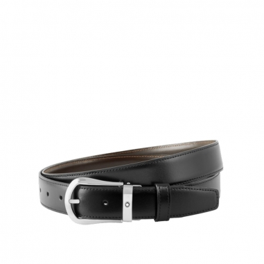 Montblanc萬寶龍(精品) CLASSIC黑色/棕色雙面可調尺寸商務皮帶