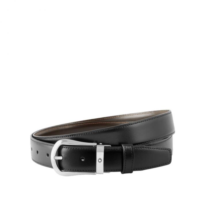 CLASSIC BELTCLASSIC黑色/棕色雙面可調尺寸商務皮帶