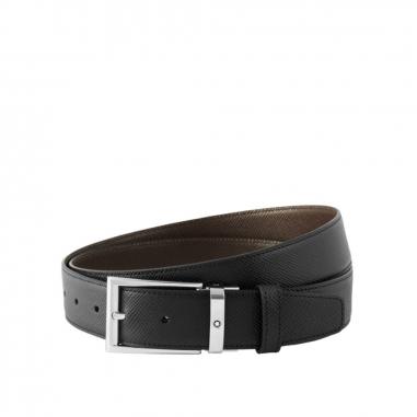 Montblanc萬寶龍(精品) Contemporary黑色/深棕色雙面可調尺寸商務皮帶