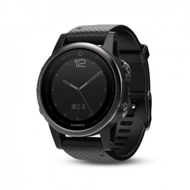 Garmin台灣國際航電 fenix 5S輕量美型款-藍寶石時尚黑