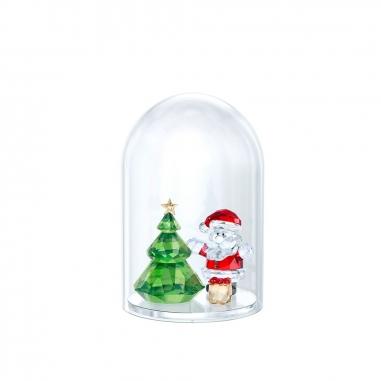 Swarovski施華洛世奇 《聖誕限定》水晶鐘罩-聖誕樹與聖誕老人