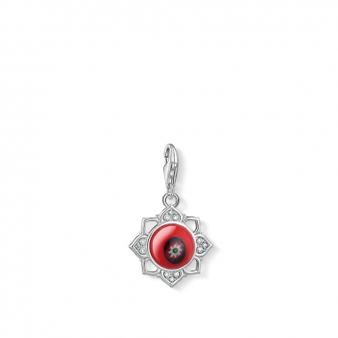 Thomas SaboThomas Sabo 紅 GLASS LOTUS FLOWER CHARM 吊墜
