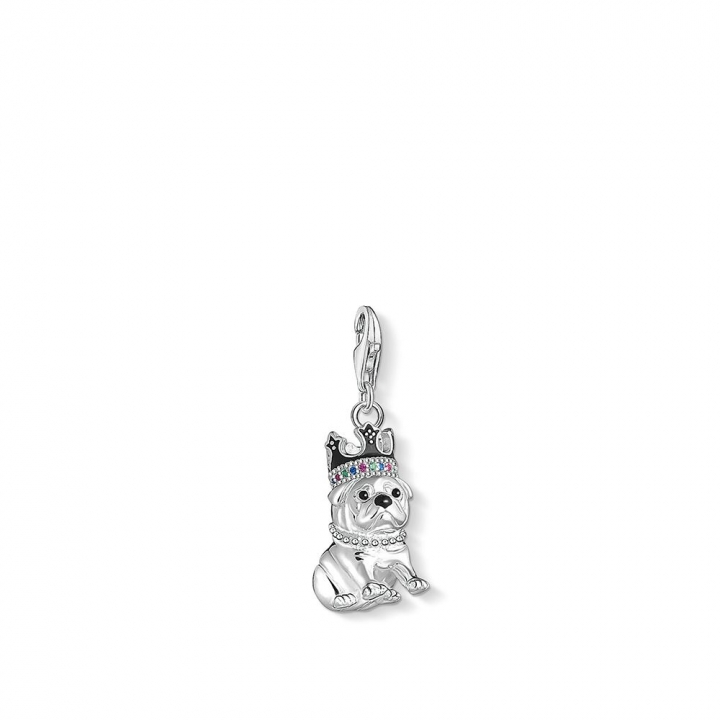 CHARM PENDANT BULLDOG WITH CROWNBULLDOG WITH CROWN CHARM 吊墜