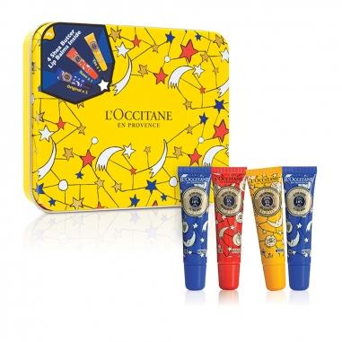 L'Occitane歐舒丹 《聖誕限定》護唇膏鐵盒四支裝特惠組