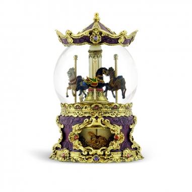 JARLL ART讚爾藝術 仿古董遊樂馬音樂鈴水晶球