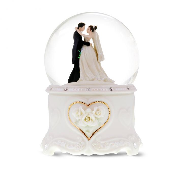 wedding waltz musical water globe婚禮上的華爾茲音樂鈴水晶球