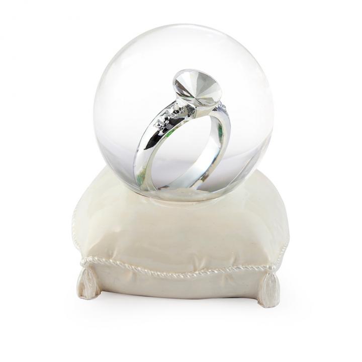 45mm ring water globe戒指結婚水晶球