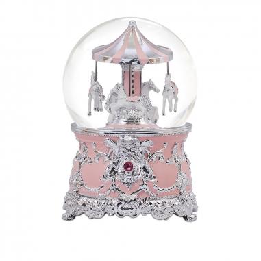 JARLL ART讚爾藝術 傘蓋遊樂馬音樂鈴水晶球