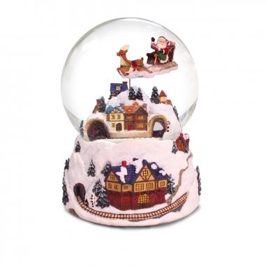 JARLL ART讚爾藝術 《聖誕限定》飛天老公公火車過山洞音樂鈴水晶球