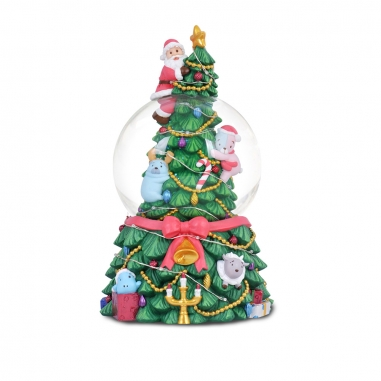 JARLL ART讚爾藝術 《聖誕限定》聖誕樹水晶球+LED七彩燈串