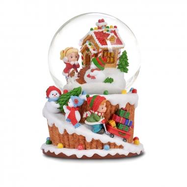 JARLL ART讚爾藝術 《聖誕限定》兩小無猜圓夢餅乾屋音樂鈴水晶球
