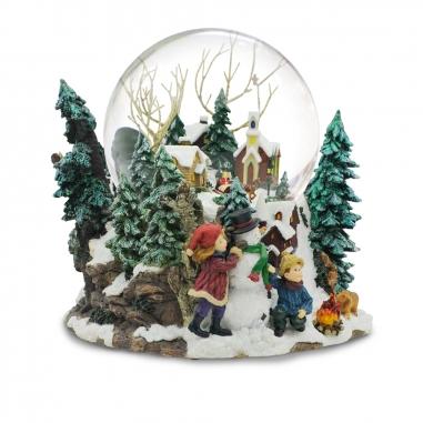 JARLL ART讚爾藝術 《聖誕限定》村莊景音樂鈴水晶球
