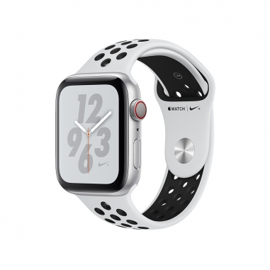 AppleApple Apple Watch Series4 Nike+ 銀色鋁金屬錶殼-白配黑色44mm(GPS+行動網路)