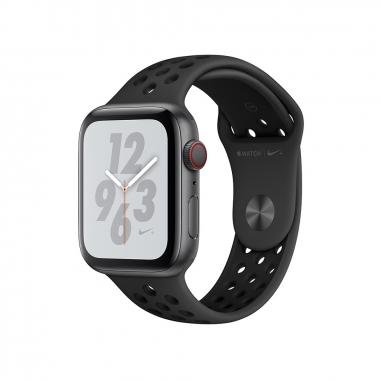 AppleApple Apple Watch Series4 Nike+ 太空灰色鋁金屬錶殼-灰配黑色44mm(GPS+行動網路)