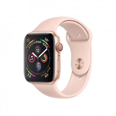 AppleApple Apple Watch Series4 金色鋁金屬錶殼-粉沙色運動型錶帶44mm(GPS+行動網路)