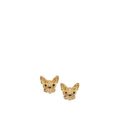 GrosseGrosse 小可愛金色水晶石小狗耳釘