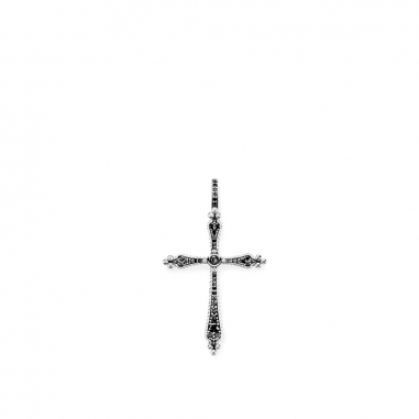 Thomas SaboThomas Sabo ROYALTY CROSS BLACK STONES吊墜