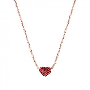 AGATHA璦嘉莎 Cubic Heart玫瑰金項鍊