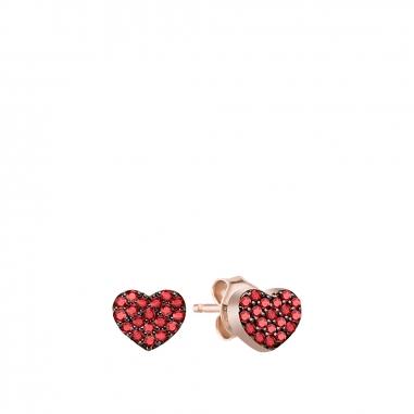 AGATHA璦嘉莎 Cubic Heart玫瑰金耳環