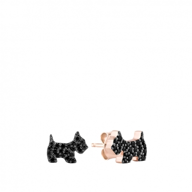 AGATHA璦嘉莎 Cubic Scottie玫瑰金耳環