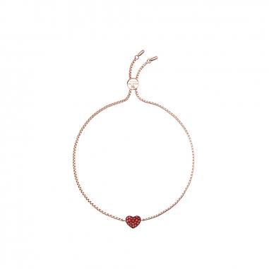 AGATHA璦嘉莎 Cubic Heart玫瑰金手鍊
