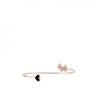 AGATHA璦嘉莎 Scottie Heart玫瑰金手環