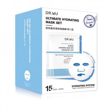 Dr.Wu達爾膚 玻尿酸保濕微導面膜15入特惠組
