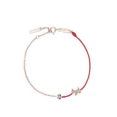 AGATHA璦嘉莎 Lucky Line紅繩手鍊
