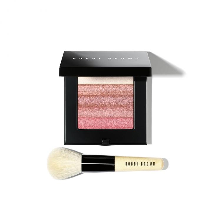 Rose Shimmer Brick Set w Brush星紗顏彩盤-玫瑰組合(附專業刷具)