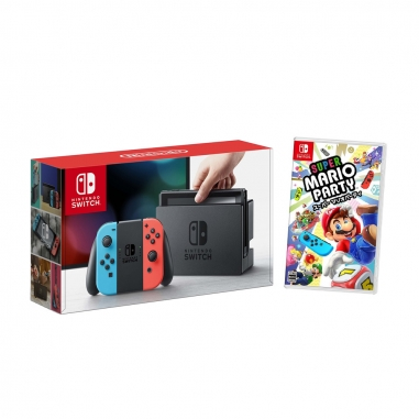 Nintendo任天堂 任天堂SWITCH主機+超級瑪利歐派對遊戲片