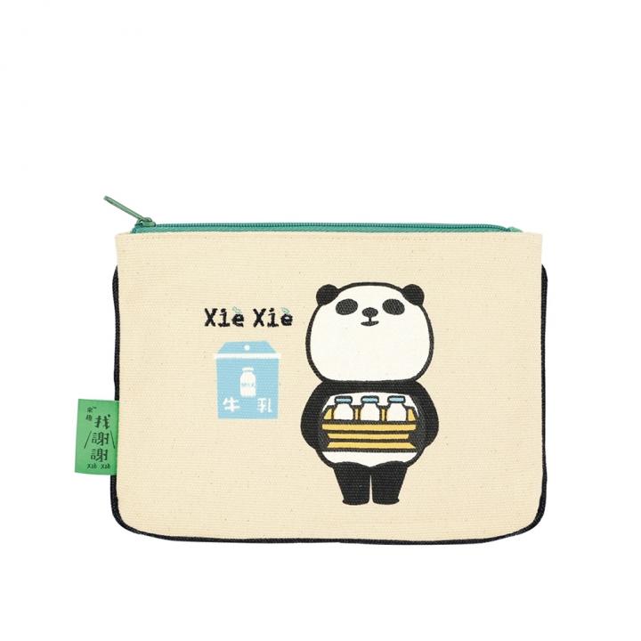 Makeup Bag Panda sends milk熊貓化妝包 熊貓送牛奶