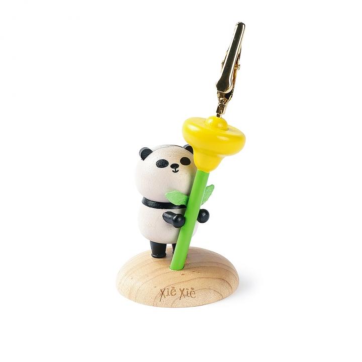 Memo Clip Panda with flower熊貓MEMO夾 拿花熊貓